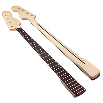 Shoes New Maple Guitar Neck For Jazz Bass Guitar Neck Replacement 20 Fret Guitar Parts To Rank First Among Similar Products