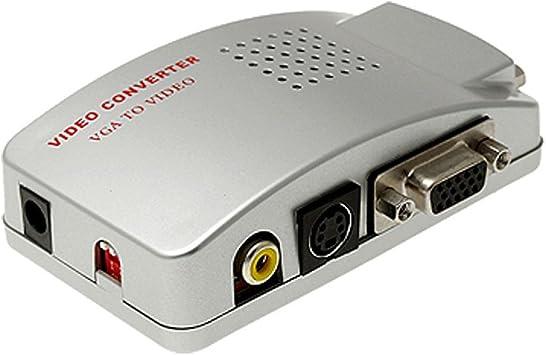 SODIAL(R) Adaptador Convertidor Caja VGA a TV AV Compuesto RCA S-Video para Computadora Portatil PC MAC Monitor: Amazon.es: Electrónica