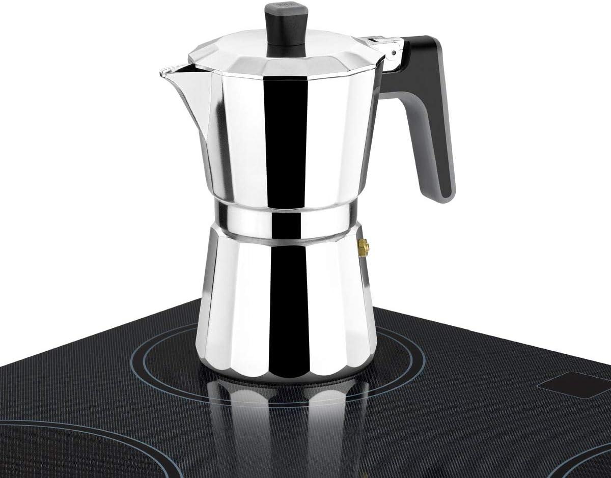 BRA Perfecta – Cafetera Italiana Inducción, Aluminio, capacidad 9 tazas, color plata: Amazon.es: Hogar