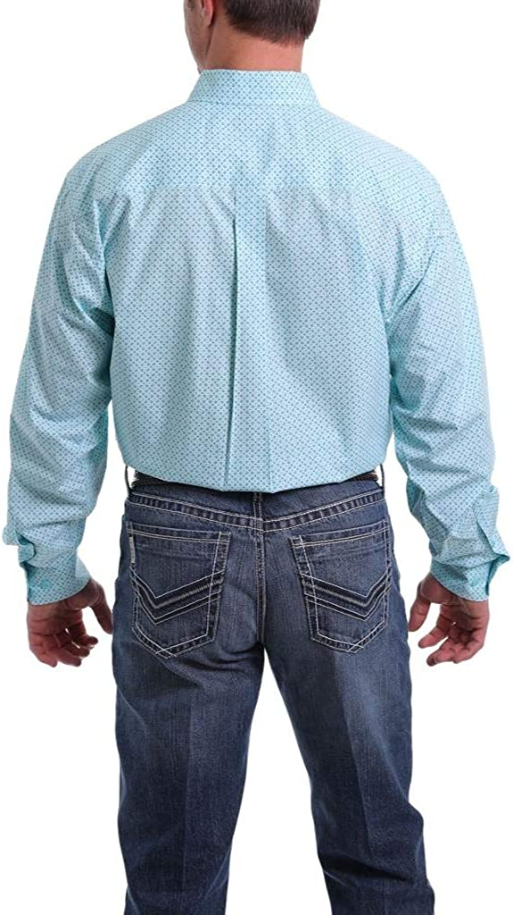Cinch Mens Classic Fit Long Sleeve Button One Open Pocket Shirt