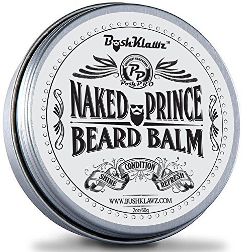 Naked Prince Scent Free All Natural Beard Balm Leave in Conditioner Beard Butter Moisturizer Premium Scentless Fragrance-Free Great for Hunters – Best Leave in Conditioner Balm for Bearded Men