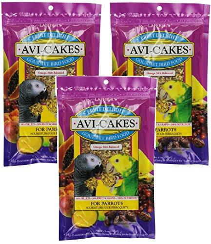 Avi Cakes Food - (3 Pack) Lafeber Company 8-Ounce Lafeber Avi-Cakes Fruit Delight for Hookbills