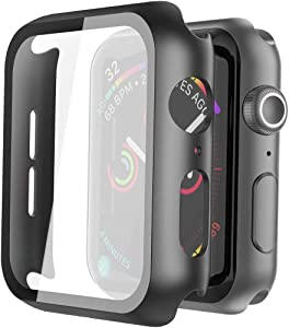 iWatch Screen Protector, DDS-DUDES 40mm Anti-Scratch Tempered Glass Screen Protector (2-Pack) Compatible for Apple Watch Series 5 Series 4