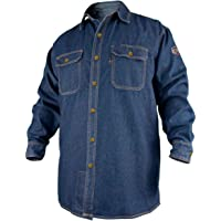 REVCO BLACK STALLION FR FLAME RESISTANT DENIM WORK SHIRT - FS8-DNM LARGE