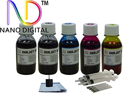 amazon com refill ink kit 5x4oz nano dye ink 2bk 1c 1m 1y and 4 rh amazon com Lexmark MS310d Laser Printer Lexmark Printers All in One