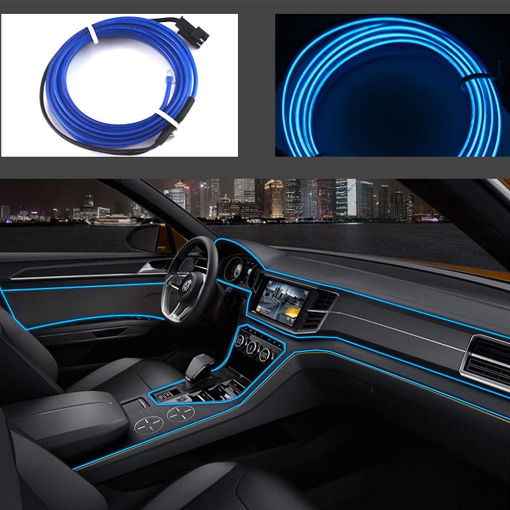 Blu ghiaccio 16ft per auto Luci al neon El Wire 5m