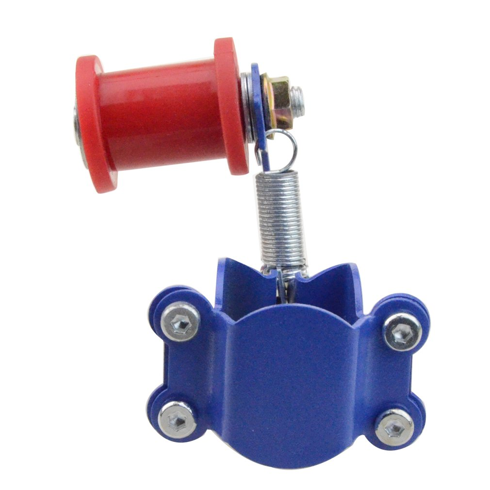GOOFIT Motorcycle Link Length Modified Chain Tensioner Adjuster Blue