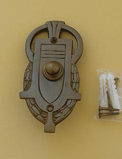 Antik Style Messing Tür Klingel Türklingel 1 Klingelschild Klingelplatte K101A