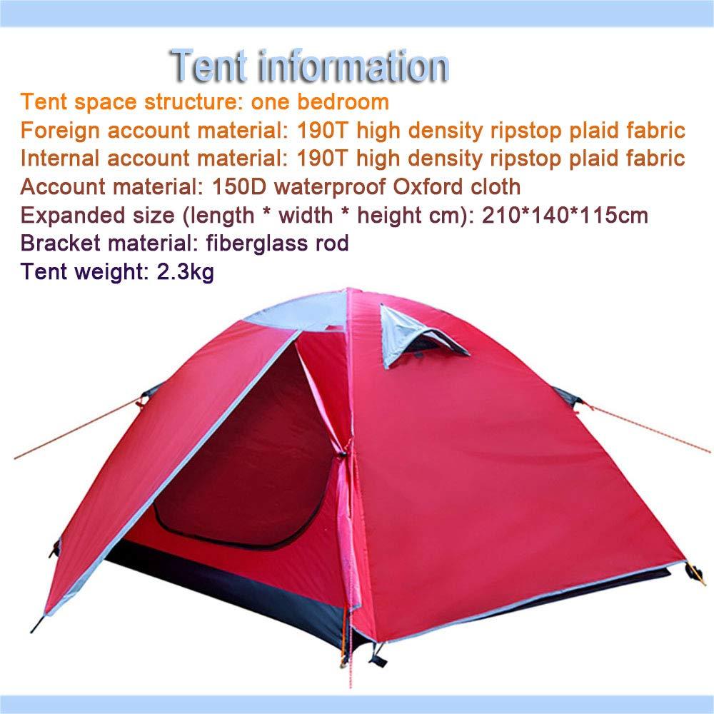 LWLPAI Petite Tente en Forme De DôMe avec Hauteur De TêTe Debout, Tente De Camping Familiale 100% ImperméAble, Cousue dans Un Tapis De Sol, Manteau 2persons B -