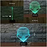 WONFAST 3D Lamp USB Power 7 Colors Amazing Optical Illusion 3D Grow LED Lamp Alien Shapes Children Bedroom Night Light