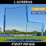 Fortress Portable Pop-Up L-Screen – Lightweight & Portable Baseball L-Screen [Net World Sports]