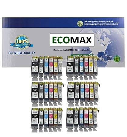 ECOMAX 36 unidades PGI-250 X LBK cartucho CLI-251 X L B/C/M/Y/G nuevo