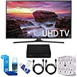 Samsung UN55MU6290 54.6 LED 4K UHD Smart TV Bundle includes TV, 2 HDMI Cables, 16GB Flash Drive, Screan Cleaner, Surge Adapter, and HD Digital TV Tuner with Recording