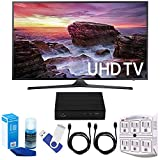 Samsung UN55MU6290 54.6″ LED 4K UHD Smart TV Bundle includes TV, 2 HDMI