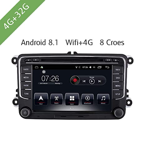 Android 8.0 Reproductor Multimedia para Coche 4G / 32G DVD ...