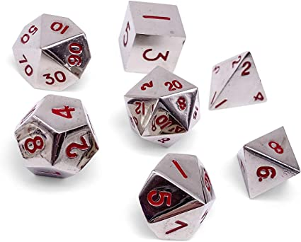 Amazon Com Set Of 7 Lycanthrope Silver Full Metal Polyhedral Dice By Norse Foundry Rpg Math Games Dnd Pathfinder Toys Games Norse foundry is raising funds for atmar's cardography: set of 7 lycanthrope silver full metal polyhedral dice by norse foundry rpg math games dnd pathfinder