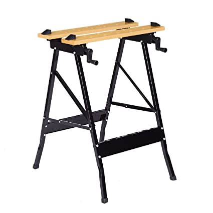 Amazing Finether Multi Purpose Folding Workbench And Vice Portable Work Table Sawhorse With Quick Clamp Pegs And Tool Holders For Carpenter Builder Diy Creativecarmelina Interior Chair Design Creativecarmelinacom