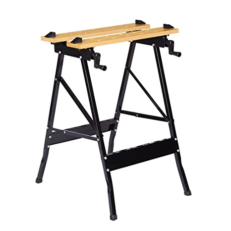 Brilliant Finether Folding Work Bench With Vice Multipurpose Sawhorse Heavy Duty Legs Portable Work Table With Clamp Pegs And Tool Holders 330Lbs 150Kg Capacity Unemploymentrelief Wooden Chair Designs For Living Room Unemploymentrelieforg