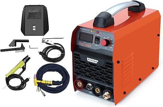 Gomistar 200Amp TIG ARC MMA Stick DC IGBT Inverter Welder System Digital LED Display Welding Machine 220V 230V 240V with HF Start Complete Package
