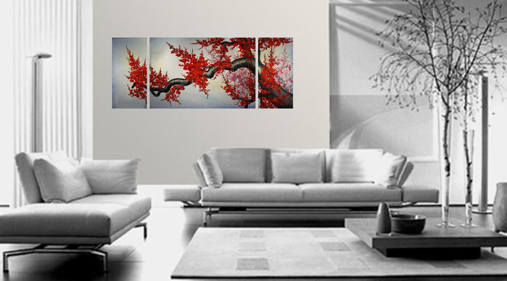 Amazon.com: Cherry Blossom Original Abstract Oil Painting On Canvas Art P  20: Paintings
