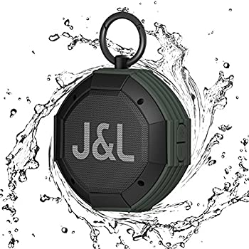 IPX7 Waterproof Bluetooth Speaker, J&L-12A Portable Wireless Bluetooth Outdoor Speaker with High-Definition Sound Quality & Superior Bass (Army Green)