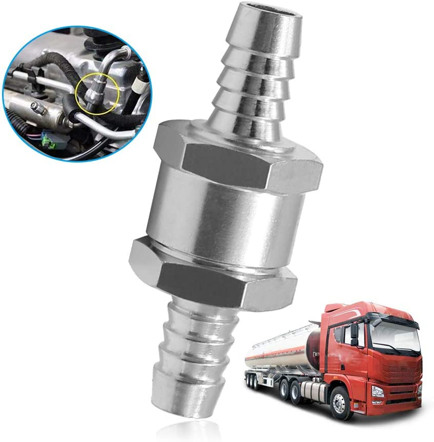 3//8 10mm Fuel One Way Check Valve Petrol Diesel for Automotive Caravans//RV and Agriculture
