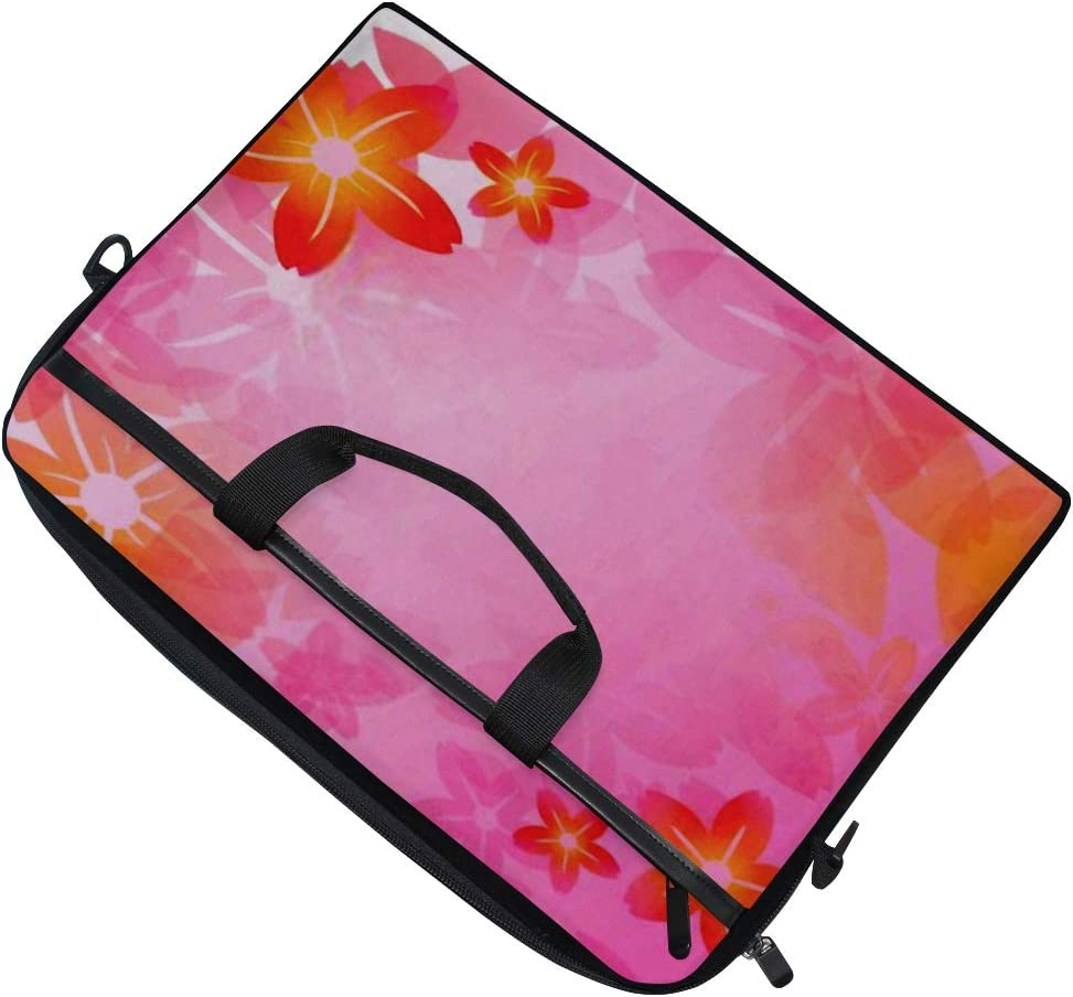 Laptop Bag Cherry Tree Full Bloom 15-15.4 Inch Laptop Case College Students Business People Office Briefcase Messenger Shoulder Bag for Men Women