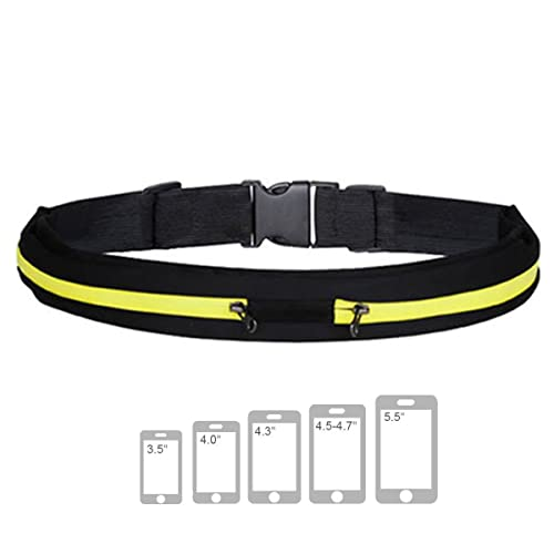 LUPO Running Belt Waist Bag – Universal Dual Pocket Expandable Pouch Pack - For Fitness Jogging Sport Cycling Hiking Dog Walking Money Travel - fits ALL Mobile Phones