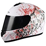 Best Motorcycle Helmet For Triangle DOTs - Triangle motorcycle Street Bike Smoked Visor Full face Review