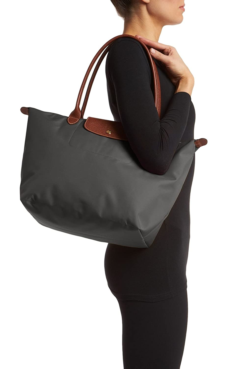 Longchamp Le Pliage Large Tote Shoulder Bag Gunmetal Grey Amazon Lc030 Longchample Medium The City Shoes Bags