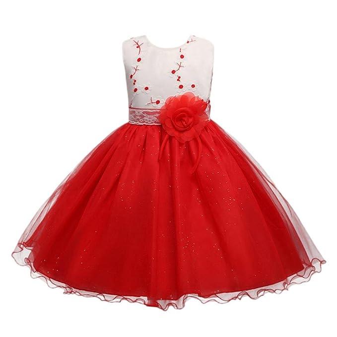 Lonshell _Hochzeit Party Kleid Vestido Bebes❤️Lonshell Vestido Sin Mangas para Niñas Vestido de Fiesta Vestido para Bodas Falda para Cumpleaños de ...
