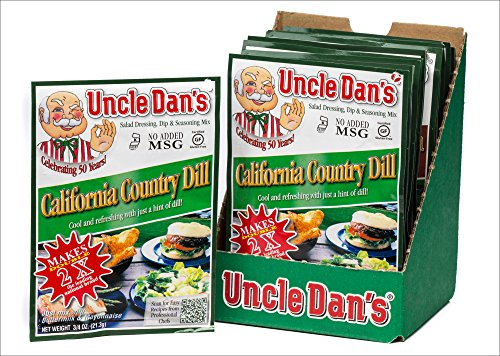 (Uncle Dan's California Country Dill Dressing, Dip, & Seasoning Mix - 12 Pack Case)