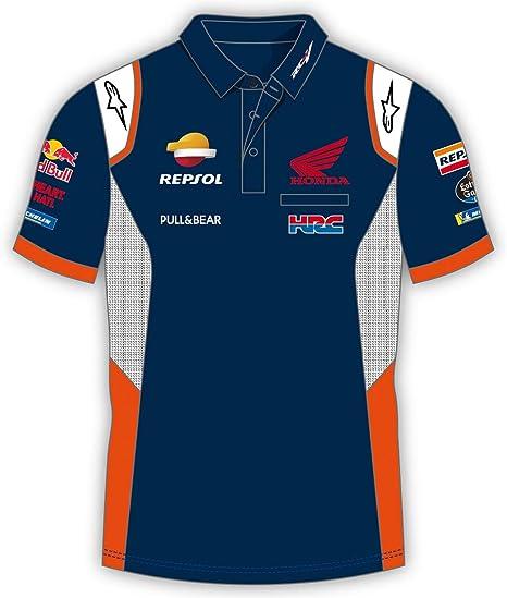 HONDA Repsol Moto GP Teamwear Panel Logos Azul Polo Shirt Oficial ...