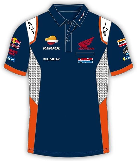 REPSOL Camiseta Deportiva Hombre Honda Replica Blue para Hombre ...