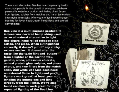 Bee Line Organic Hemp Wick Set of 6 by Penny Lane Gifts