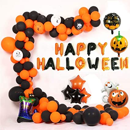 "Halloween Metallic Balloons Orange Black Mix 12/""  Party Decoration Party Fun"