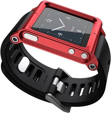 LunaTik Minimal Correa de muñeca para iPod Nano 6G con Reloj, Color Rojo [Importado de Reino Unido]: Amazon.es: Deportes y aire libre