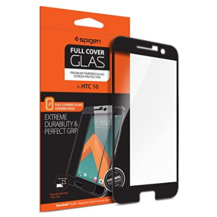 spigen full cover glass htc 10 screen protector with tempered glass for htc 10 amazoncom tempered glass