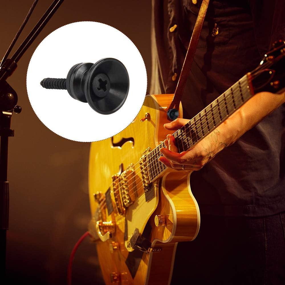 Plata,Negro,Dorad Cerradura de Correa de Guitarra Hebillas con Tornillos y Cojines Para Guitarra Ac/ústica Guitarra El/éctrica,Guitarra Cl/ásica
