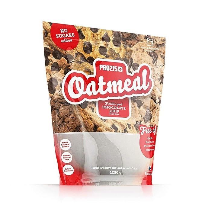 Prozis Oatmeal - Cereales Repletos de Proteínas, Hidratos de Carbono de Alta Calidad y Fibras Saciantes - Sabor Pepitas de chocolate - 1250 g
