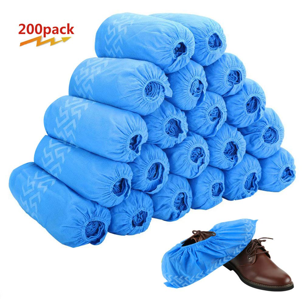 Disposable Boot & Shoe Covers 200 Pack (100 Pairs) | Non-Slip, Durable, Indoor | Protect Your Home, Floors and Shoes by Tomus-UNI