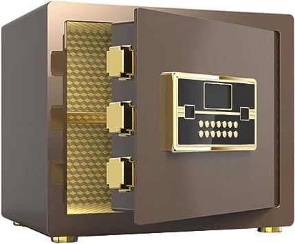 Cajas Fuertes Home Safe Caja Fuerte Código de Seguridad de 3-8 dígitos + Perno de Bloqueo Octagonal de 35 mm + Sistema antirrobo 38 * 32 * Safe (Color : Brown): Amazon.es: Electrónica