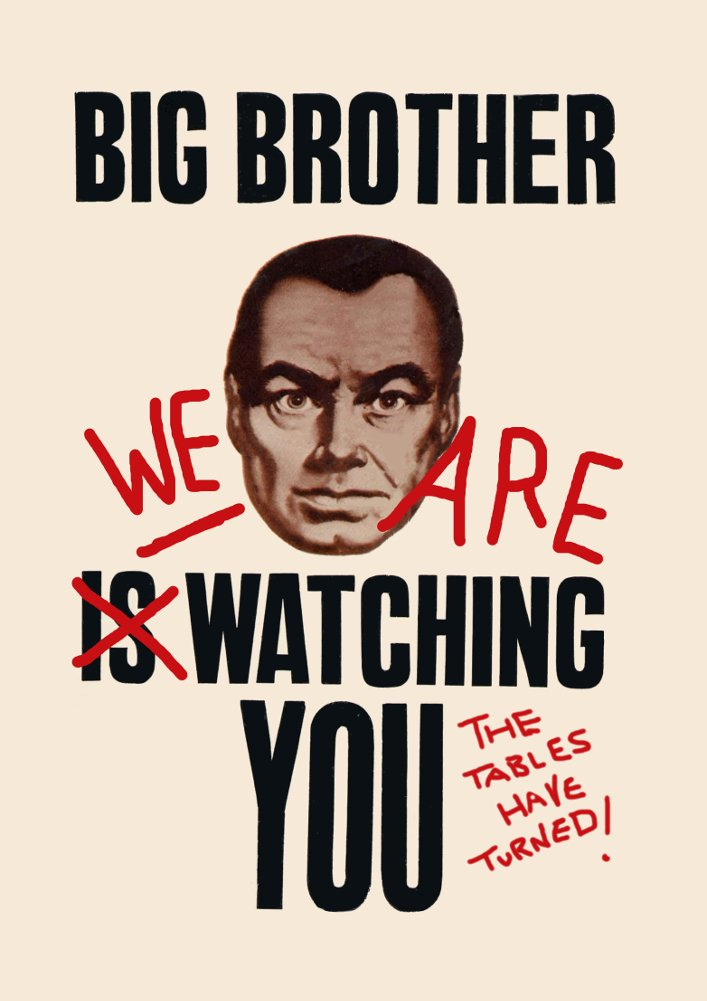 Amazon GEORGE ORWELL 1984 BIG BROTHER THE TABLES HAVE TURNED WE ARE WATCHING YOU 250gsm ART CARD Gloss A3 Reproduction Poster By World Of Art