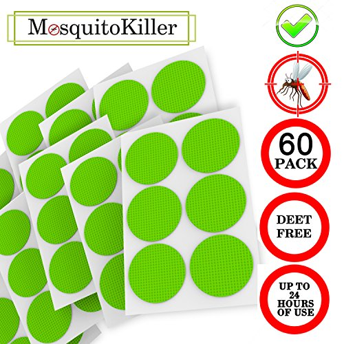 Mosquito Repellent Patch 3cm Resealable 60-Count Pack,Non-To