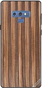 Case For Samsung Galaxy Note 9 Dark Brown Strips Wooden Pattern