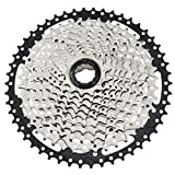 CYSKY 11 Speed Cassette 11-50 MTB Cassette 11 Speed Fit for Mountain Bike, Road Bicycle, MTB, BMX, SRAM Shimano Sunrace 11 Speed Freehub Body (Light Weight)