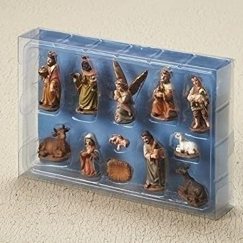 Roman Inc. 2 12 Piece SET Nativity in Muted Colors of Earth Tones