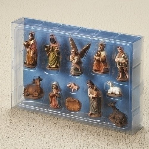 Roman Inc. 2'' 12 Piece SET Nativity in Muted Colors of Earth Tones