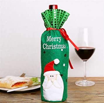 Great Variety Of Birthday Decorations Christmas Champagne Bottle Set Red Wine Bag Decoration