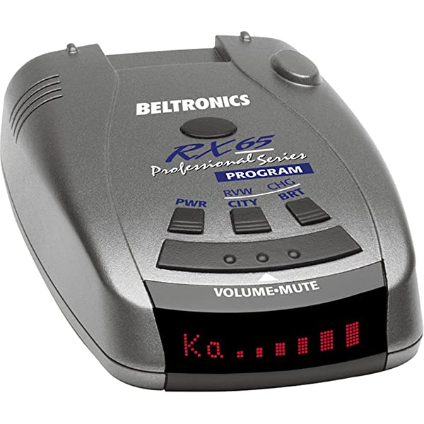 Beltronics RX65 Red Professional Series Radar/Laser Detector with Car Mat Bundle + 1 Year Extended Warranty